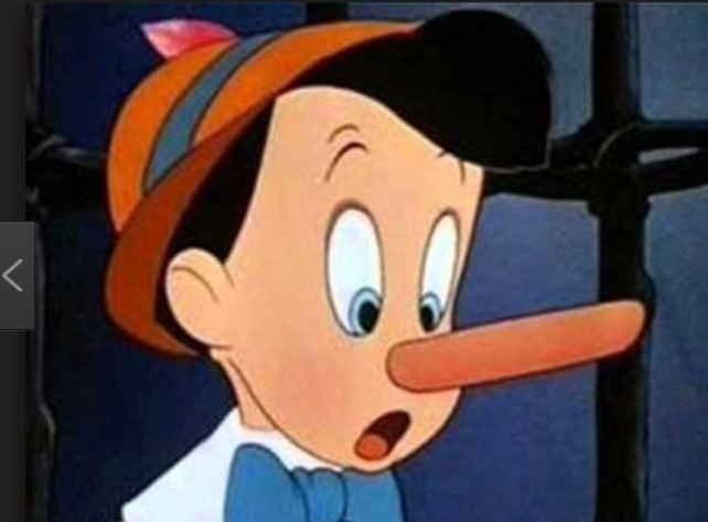 He Has A Nose Longer Than Pinocchio